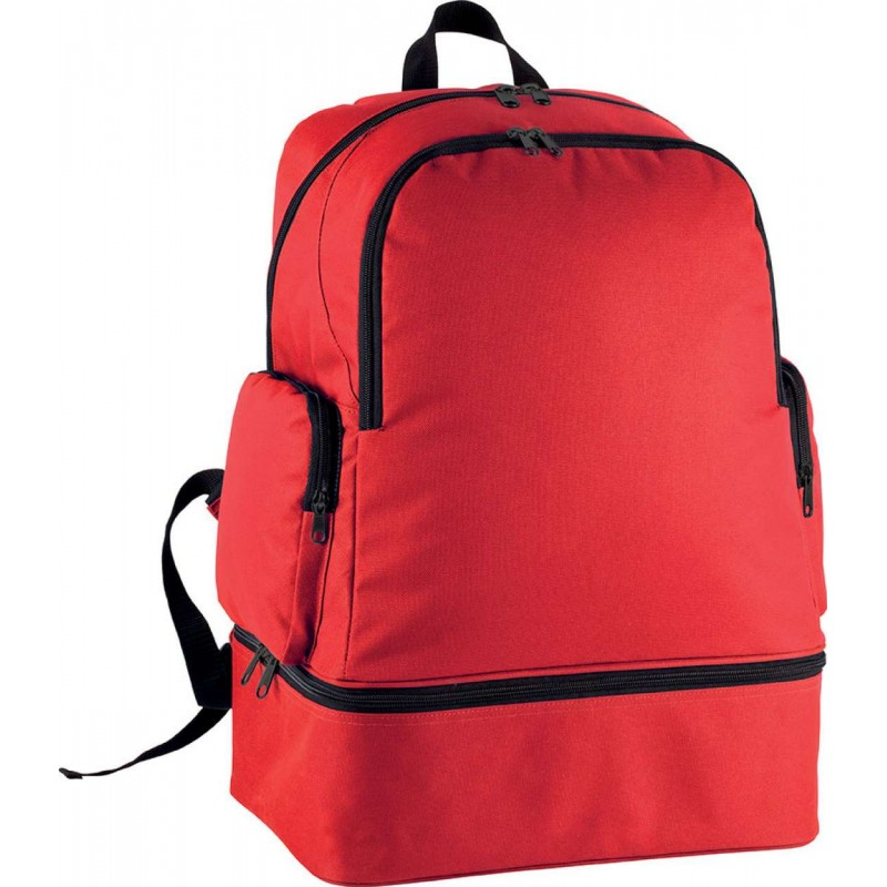 TEAM Sport BACKPACK WITH RIGID BOTTOM - Red